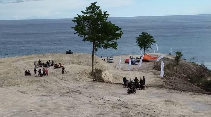 Lokasi Pantai Ratu, Boalemo yang diduga telah terjadi pembabatan hutan mangrove