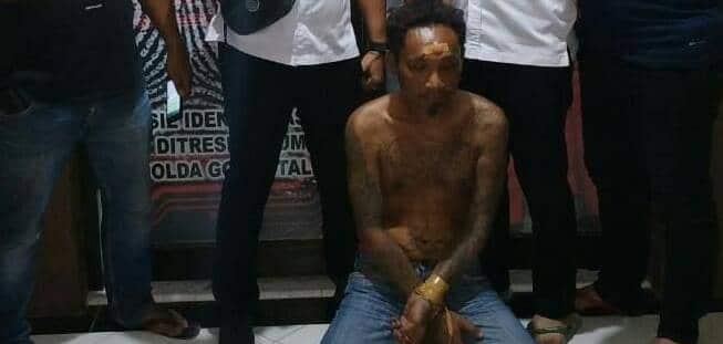 Pelaku pencurian yang berhasil diamankan Resmob Polda Gorontalo