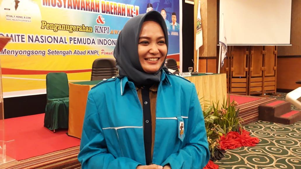 Ketua KNPI Kota Gorontalo  terpilih Dita Angriani Polapa