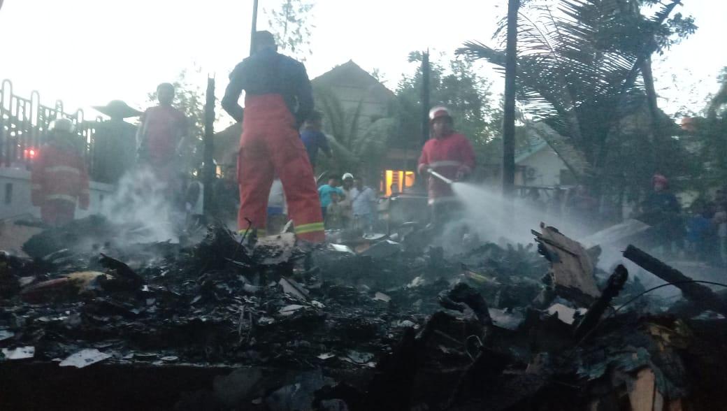 Gudang Kantor BPKH Gorontalo, mengalami kebakaran