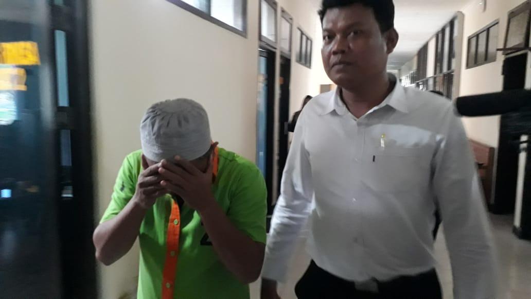 Tersangka kasus narkoba yang di peroleh dari dalam Lapas Boalemo, berhasil di amankan Polda Gorontalo