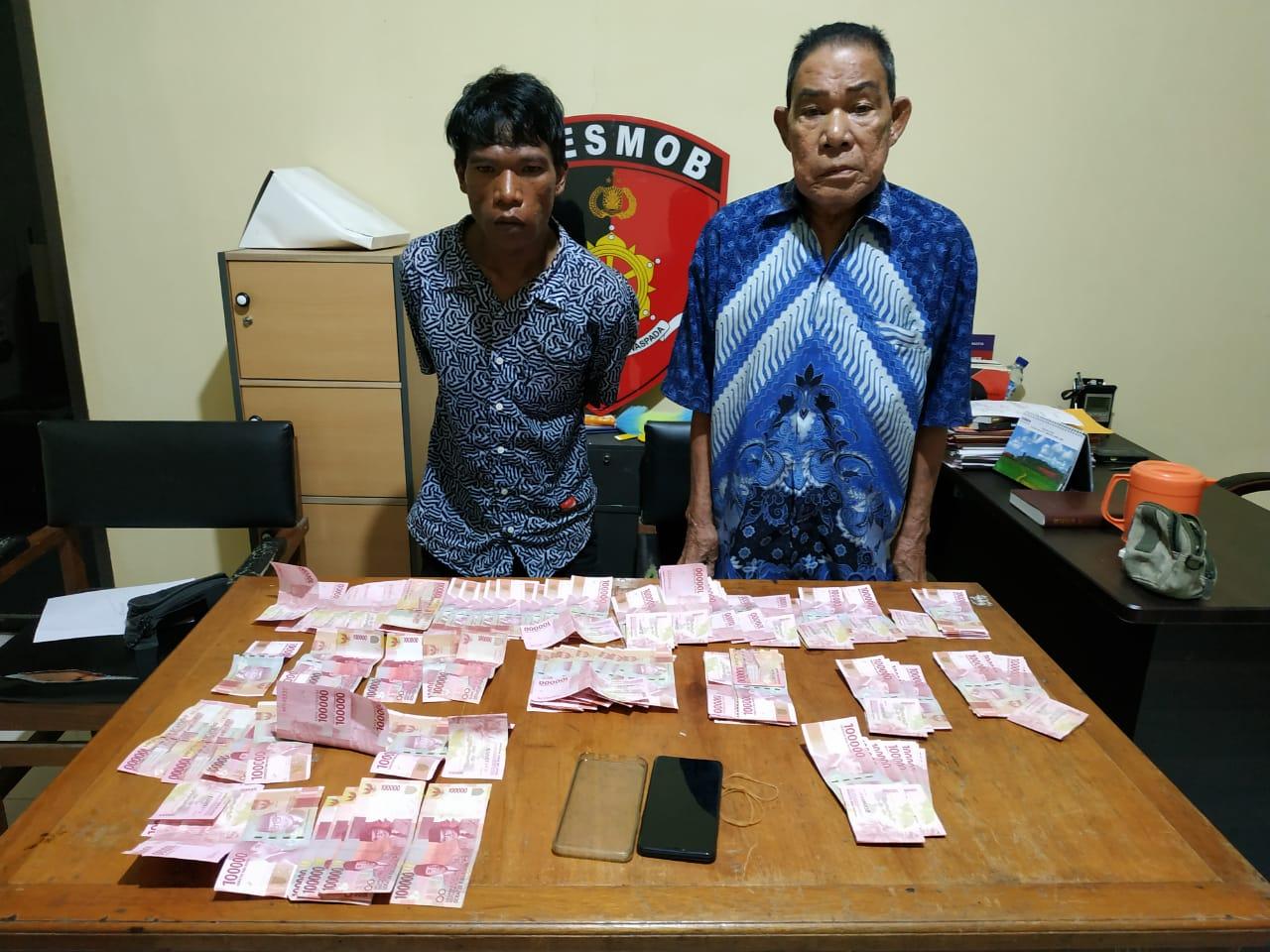 Pelaku pencurian di Luwuk, yang berhasil di tangkap Polda Gorontalo