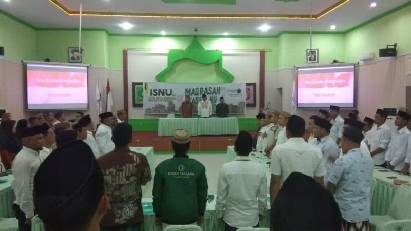 Pembukaan Madrasah Kader Nahdlatul Ulama (MKNU) ke II yang digelar oleh Pengurus Wilayah Ikatan Sarjana Nahdlatul Ulama (PW ISNU) Provinsi Gorontalo di Asrama Haji, Kota Gorontalo. (ft: Pojok6.id)