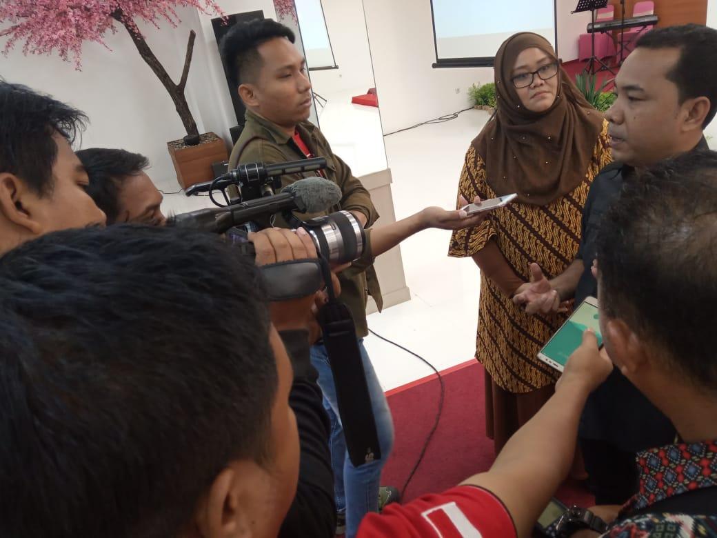 Abdul Muslim, Kepala Bidang Kreativitas Musik dan Kuliner Kementrian Pemuda dan Olahraga usai membuka pelatihan Desan Grafis untuk pemuda, Selasa (5/11/2019).