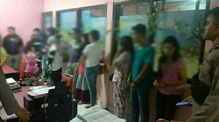Tujuh pasangan di luar nikah diamankan dalam razia Pekat Otanaha III yang dilaksanakan Polda Gorontalo, Jumat (6/12/2019). (istimewa)