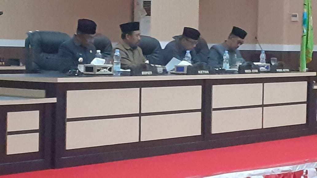 Rapat Internal DPRD Kabupaten Boalemo, beberapa waktu lalu. (ft : Istimewa)