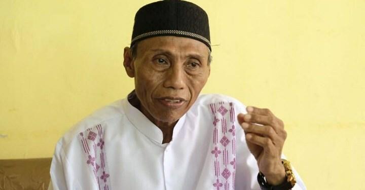 Ketua Forum Komunikasi Antar Umat Beragama (FKUB) Provinsi Gorontalo K.H Rasyid Kamaru.