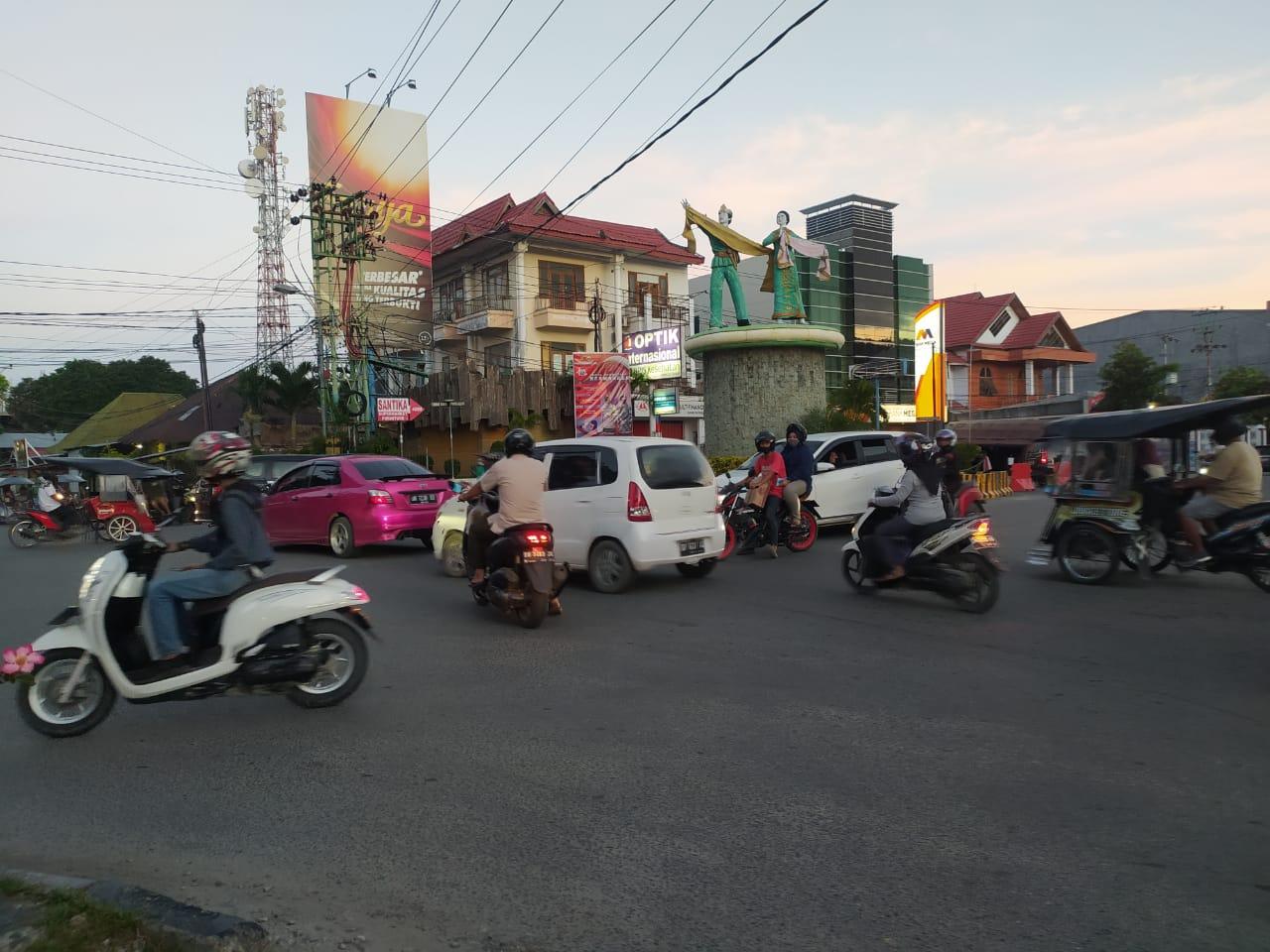 Aktivitas warga di Kota Gorontalo yang saat ini terbilang cukup ramai/Prosesnews.id