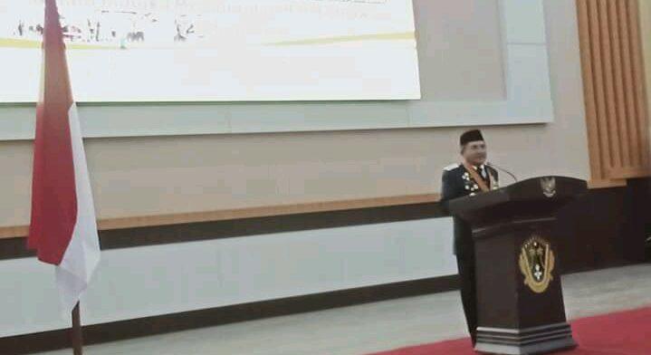Wali Kota Gorontalo, Marten Taha saat memberikan sambutan pasda kegiatan Ramah Tamah