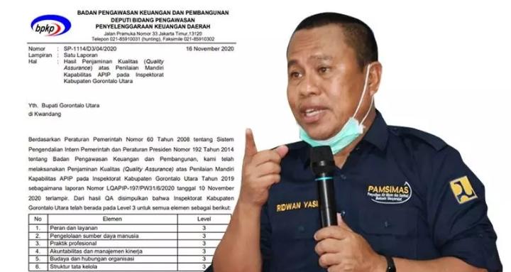 Sekretaris Daerah, Ridwan Yasin.