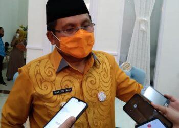 Wali Kota Gorontalo Marten Taha saat di wawancarai awak media, (Foto : Dok. prosesnews.id)