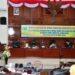 Wagub Gorontalo H. Idris Rahim (kiri), memberikan sambutan pada Rapat Paripurna DPRD Provinsi Gorontalo ke-42 dalam rangka pelantikan PAW anggota DPRD Provinsi Gorontalo sisa masa jabatan 2019-2024, Rabu (23/12/2020). (Foto : Haris – Humas)