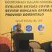 Sekretaris Daerah Provinsi Gorontalo Darda Daraba saat memberikan sambutan pada pertemuan koordinasi dalam rangka evaluasi kegiatan satgas Covid-19 tahun 2020 dan Review Rencana Operasional (Renop) Kesehatan Provinsi Gorontalo di Grand Q Hotel, Senin (28/12/2020). (Foto: Nova-Humas)