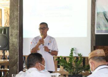 Bupati Pohuwato Syarif Mbuinga, saat memberikan sambutan dalam Rapat Koordinasi ( Rakor), Akhir tahun 2020, di kantor Perhimpunan Burung Indonesia