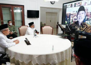 Wakil Presiden Ma'ruf Amin, menghadiri silaturahmi Pimpinan Dewan Pertimbangan Majelis Ulama Indonesia (MUI) Periode 2020-2025.