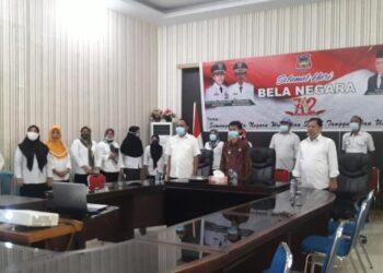 Wakil Bupati (Wabup) Kabupaten Gorontalo, Herman Walangadi, menghadiri Upacara memperingati Hari Bela Negara Ke 72 Tahu 2020