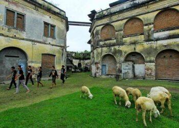 Area benteng pendam Van Den Bosch di Ngawi , Jawa Timur. (Foto : ANTARA FOTO).