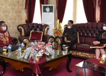Pemerintah Daerah Kabupaten Gorontalo Utara (Gorut) menerima kunjungan kerja dari kepala Bank Sulutgo
