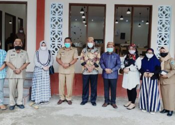 Kunjungan Kerja Pemda Boalemo ke Bolmut, Diterima langsung Bupati Bolmut, Depri Pontoh. Selasa, (26/01/2021) (Foto : Istimewa).