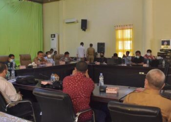 Pembukaan kegiatan UKW di Gedung Panua Kantor Bupati Pohuwato. (Foto : Istimewa).