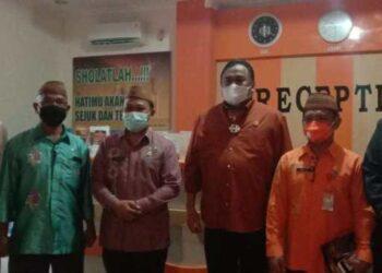 Rachmat Gobel saat berkunjung ke Kabupaten Boalemo. (Foto : Istimewa).
