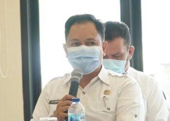 N.R Monoarfa Sekwan Dekot Hadiri Musyawarah Perencanaan Pembangunan (MUSRENBANG) Tingkat Kecamatan Kota Tengah Kota Gorontalo Tahun 2022, Rabu (17/2/2021). Foto : Humas