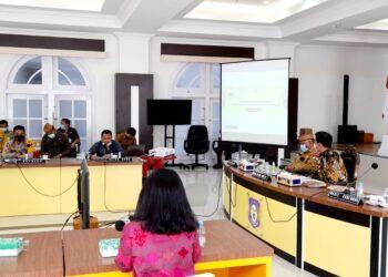 Rapat Forum Koordinasi Pimpinan Daerah (Forkopimda) Provinsi Gorontalo.