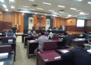 Sidang Paripurna DPRD Kabupaten (Dekab) Blitar. (Foto : Dwi / Prosesnews.id).