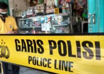 Polisi melakukan olah TKP. (Foto : Istimewa).