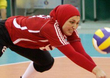 Ilustrasi pertandingan voli putri. (AFP/KIMIMASA MAYAMA)