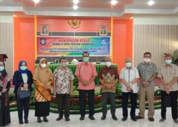 Kunjungan kerja Komisi IV DPRD Provinsi Gorontalo di Kantor Balai Pengembangan Pendidikan Anak Usia Dini dan Pendidikan Masyarakat (BP-Paud dan Dikmas) Gorontalo. (Foto: Ingki-HL)