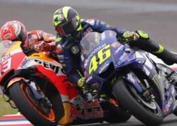Marc Marquez dan Valentino Rossi (Foto: MotoGP)