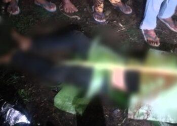 Kondisi korban sebelum dievakuasi ke rumah duka. (Foto : Majid/Prosesnews.id).