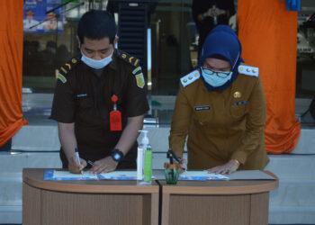MoU Penyelenggaraan Pelayanan Publik di MPP Bone Bolango Ditandatangani/foto:AKP