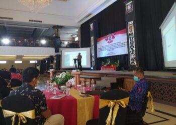 Suasana sosialisasi Permendagri nomor 78 tahun 2020 di Hotel Adhiwangsa Laweyan, Kota Surakarta Jawa Tengah, Jumat (5/3/2021). (Foto: Istimewa)