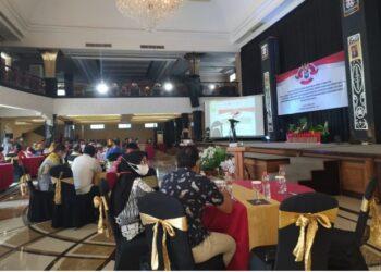 Suasana sosialisasi Permendagri nomor 78 tahun 2020 yang diikuti Badan Kesbangpol Provinsi Gorontalo di Hotel Adhiwangsa Laweyan, Kota Surakarta Jawa Tengah, Jumat (5/3/2021). Foto: Istimewa