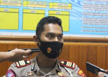 Kasat Lantas Polres Gorontalo, saat diwawancarai Awak Media. (Foto : Istimewa).