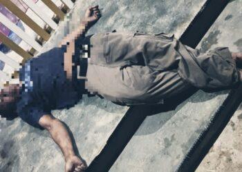 Kondisi korban terkapar tewas, usai dihajar oleh 2 Pemuda penjaga Kafe. (Foto : Istimewa).