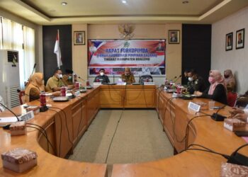 Rapat dipimpin Plt Bupati Boalemo, Anas Jusuf. (Foto : Humas).