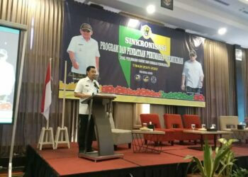 Sambutan Wakil Walikota Ryan Kota pada kegiatan sosialisasi dan Pencanangan kemoprofilaksis kusta tingkat Kota Gorontalo Tahun 2021.