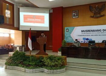Wali Kota Blitar buka acara Musrenbang. (Foto : Dwi / Prosesnews.id).