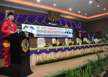Ryan Kono, Saat Memberikan Sambutan pada kegiatan Sidang Paripurna Istimewa Peringatan Hari Ulang Tahun Kota Gorontalo ke-293.