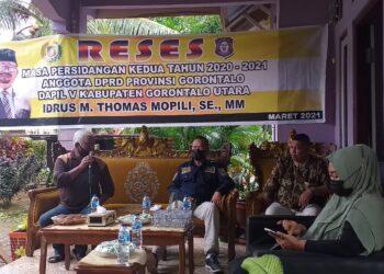 Kunjungan reses ke Gorontalo Utara (Foto : Istimewa)