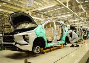 Pabrik perakitan mobil milik Mitsubishi di Cikaranh. MMKSI