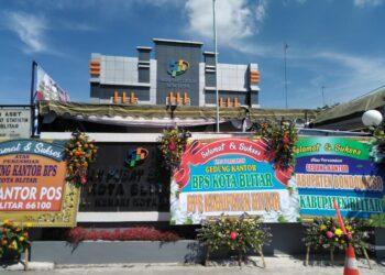Kantor BPS Kota Blitar yang baru, di Jalan Kenari, Kelurahan Plosokerep, Kota Blitar.(foto:dwi/prosesnews)
