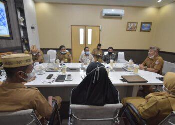 Pemda Pohuwato gelar rapat persiapan penyambutan KLHK-RI. (Foto : Istimewa).