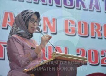 Plh Bupati Kabupaten Gorontalo, Hadijah U Tayeb. (Foto : Kominfo)