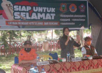Sekretaris Daerah Kabupaten Gorontalo, Hadijah U. Tayeb,  menghadiri sekaligus menutup LATGAB. (Foto : Istimewa).