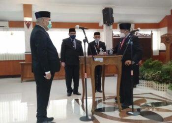 Pelantikan penjabat sekda Kota Blitar. (Foto : Istimewa)