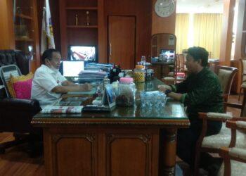 Gubernur Sulteng Drs. Longki Djanggola (kiri), bersama Anggota DPRD Sulteng, Muhumin Yunus (kanan). (Foto : Istimewa)